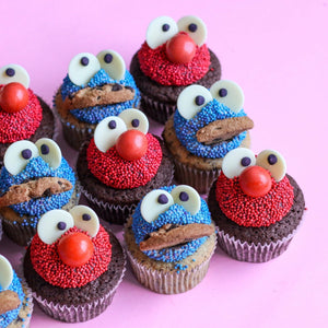 Elmo and Cookie Monster - Littlecupcakes