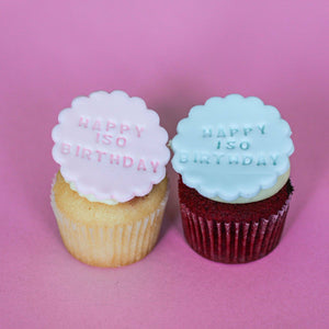 ISO Happy B'day Cupcakes - Pack of 6 std - Littlecupcakes