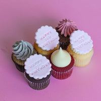 ISO Happy B'day Cupcakes - Pack of 6 std