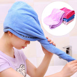 New Women Super Absorbent Turban Quick Dry Wet Hair Hat Bathing Shower Towel Cap