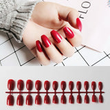 24Pcs/Set Long Ballerina False Nails American And European Pink Blue Coffin Shaped Fake Nails Finger Beauty Nail Art Tools