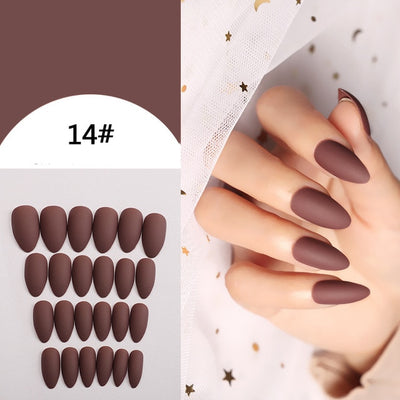 24pcs/set full cover Matte False Nail tips Nail Art Manicure Matte Tips For False Fake Nails Extension for False Nails Dropship