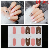 14 Tips Cute Summer Nail Wraps Full Cover Waterproof Nails Sticker Art Decorations DIY Manicure Adhesive Polish Nails