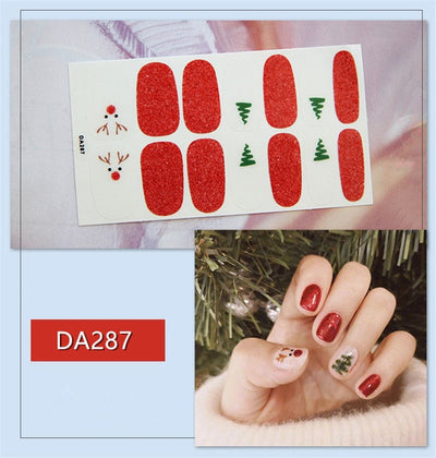 1Sheet Korean Fashion Full Cover Nail Polish Wraps Adhesive Nail Stickers Manicure Art Decorations Tools Environmental for Woman