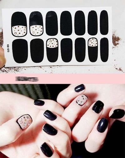 Fashion Full Cover Nail Polish Wraps Adhesive Nail Stickers Nail Art Decorations Manicure Tools Environmental for Woman D27
