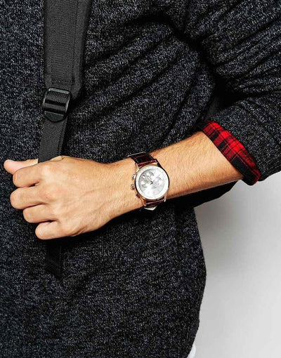 Bold metallic watch