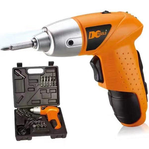 Cordless Rechargeable Handy Drill Screwdriver 45pcs Set with bits holder