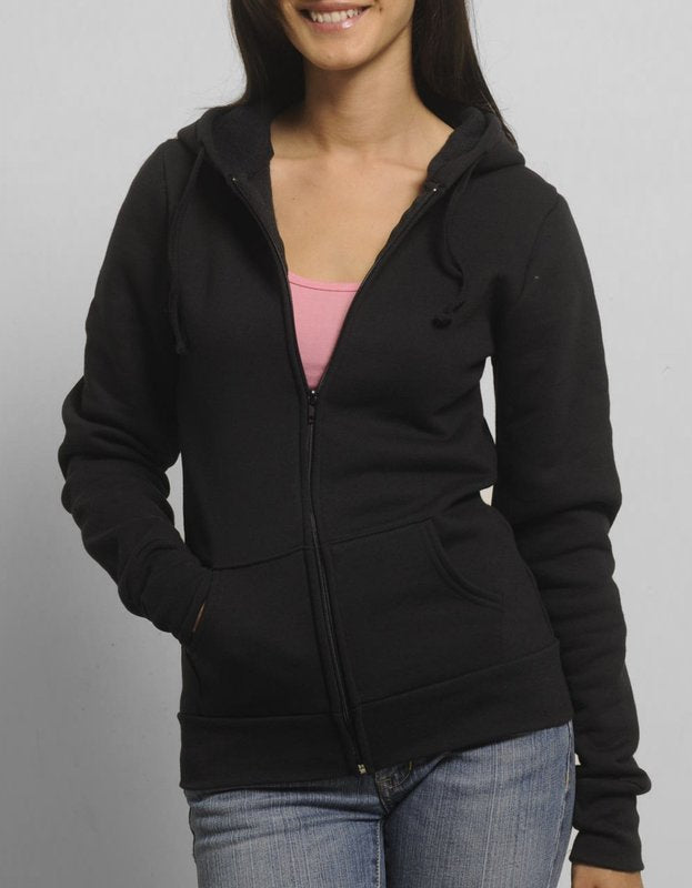 Womens Fleece Full Zip Hoodie