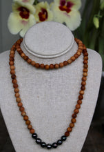 Load image into Gallery viewer, Tahitian Pearl and Sandalwood Necklace