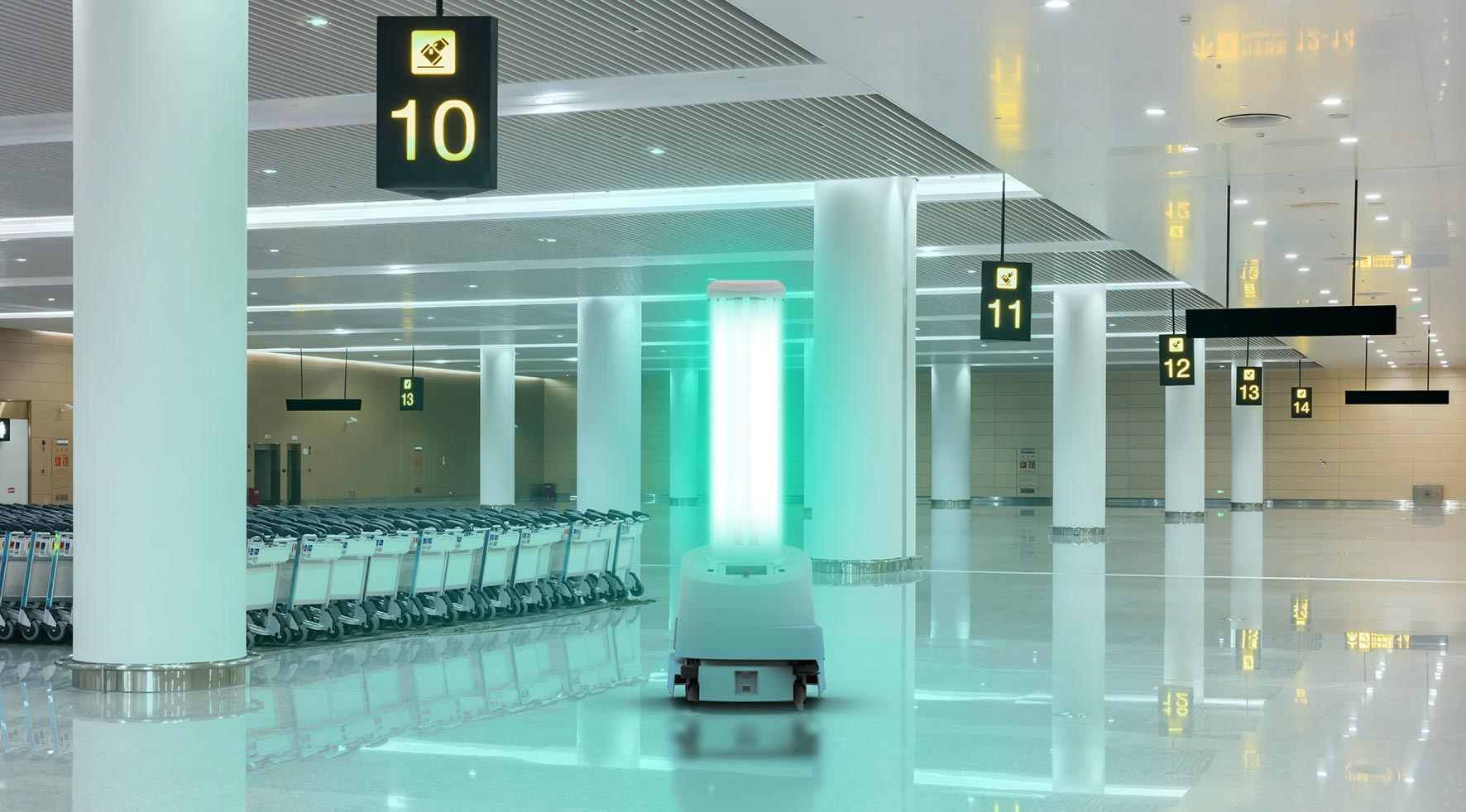 ARC UVD Robot in Airport Setting