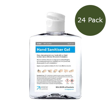 250ml Hand Sanitiser Gel - 70% Alcohol - Pack of 24