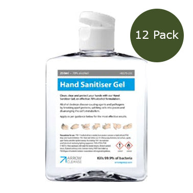 500ml Hand Sanitiser Gel - 70% Alcohol - Pack of 12