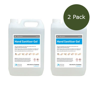 5 Litre Hand Sanitiser Gel - 70% Alcohol - Pack of 2