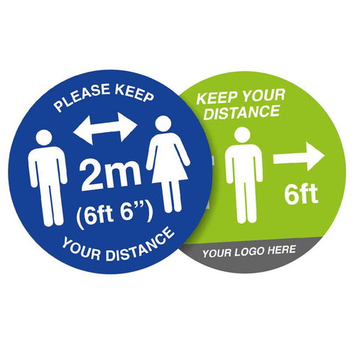 Social Distancing Round Floor Stickers