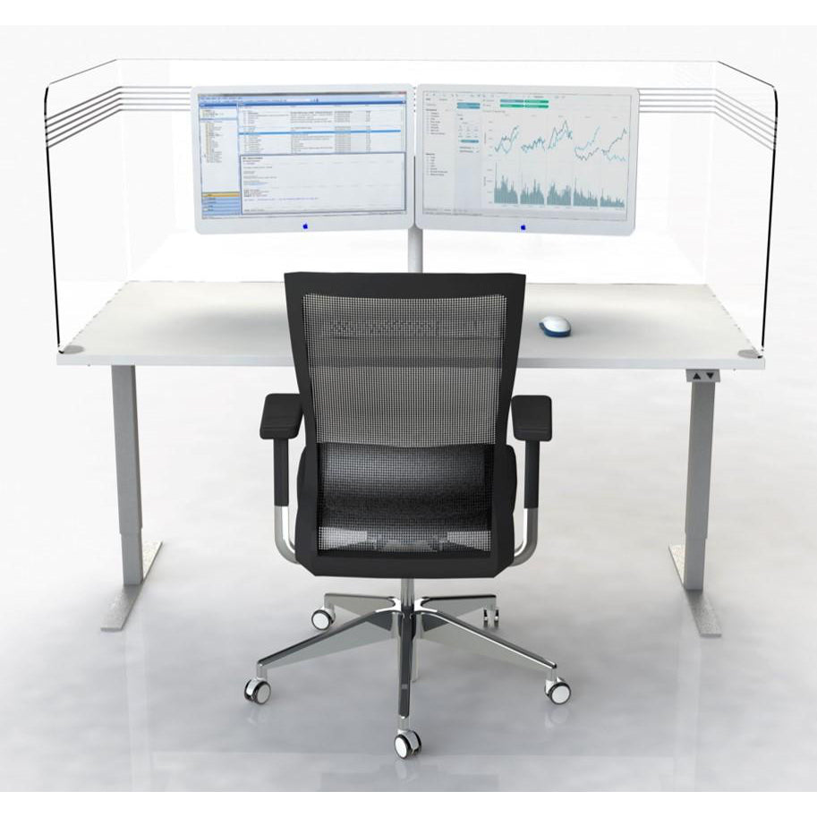 Protective Wraparound Desk Screen