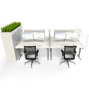 Protective Wraparound Desk Screen Cluster