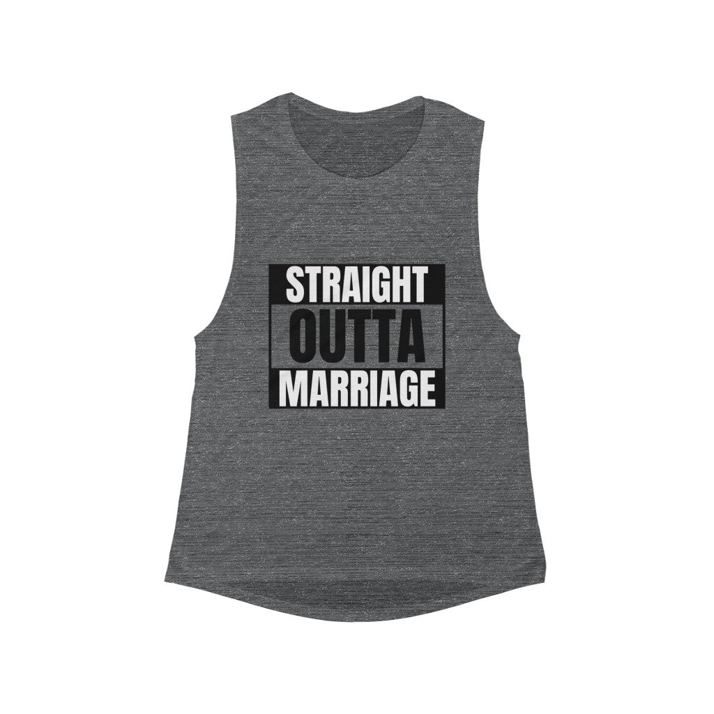 Straight Outta Marriage Muscle Tank