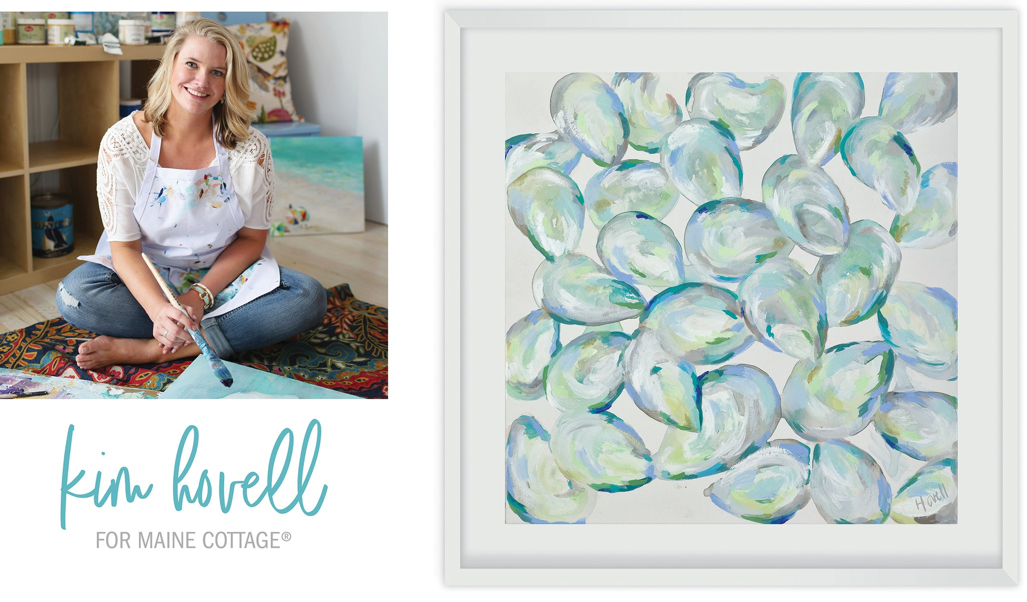 Kim Hovell Paintings for Maine Cottage