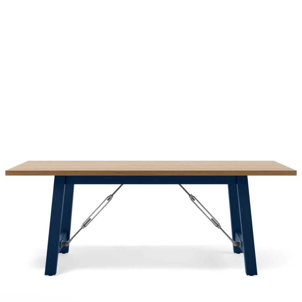 Cable Lock Dining Table - Maple Top