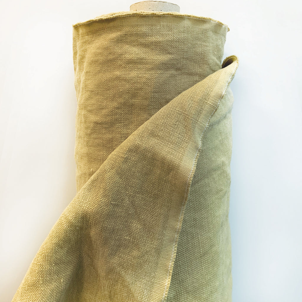 Stonewashed Linen: Latte<br> (21 Yards Available )