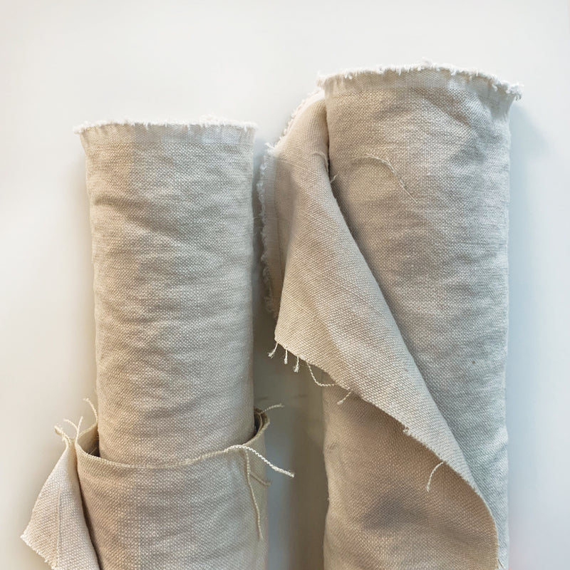 Stonewashed Linen: Natural<br> (12 Yards Available )