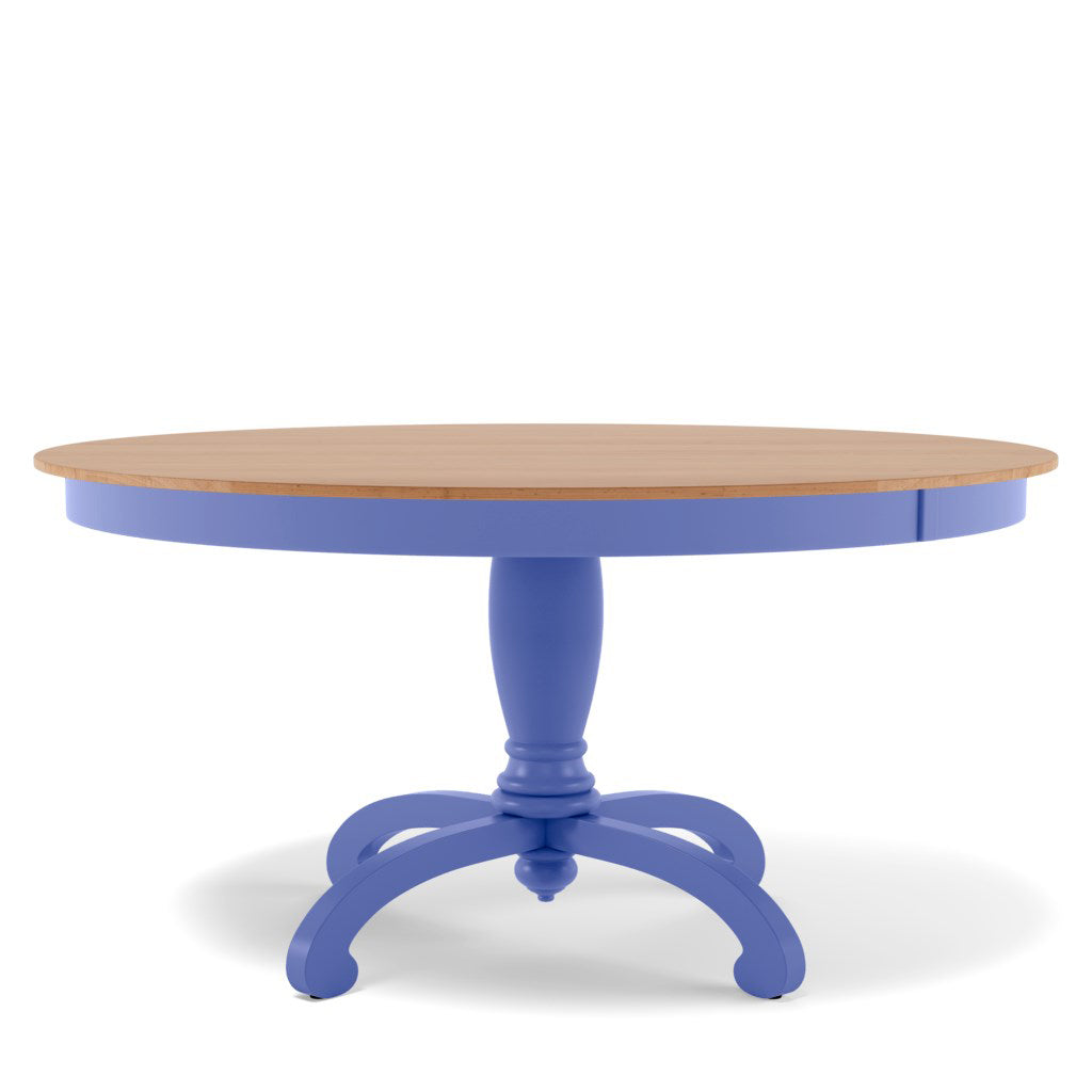 Della Pedestal Dining Table - Maple Top
