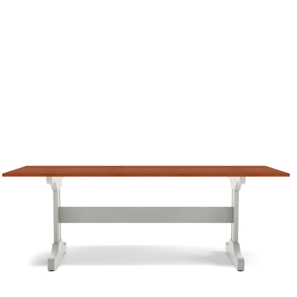 Inga Trestle Dining Table - Cherry Top