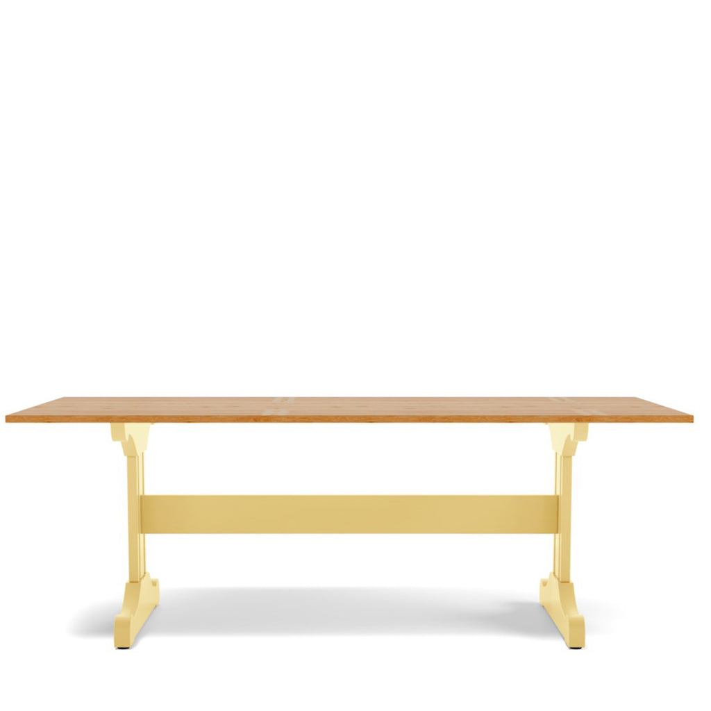 Inga Trestle Dining Table - Oak Top