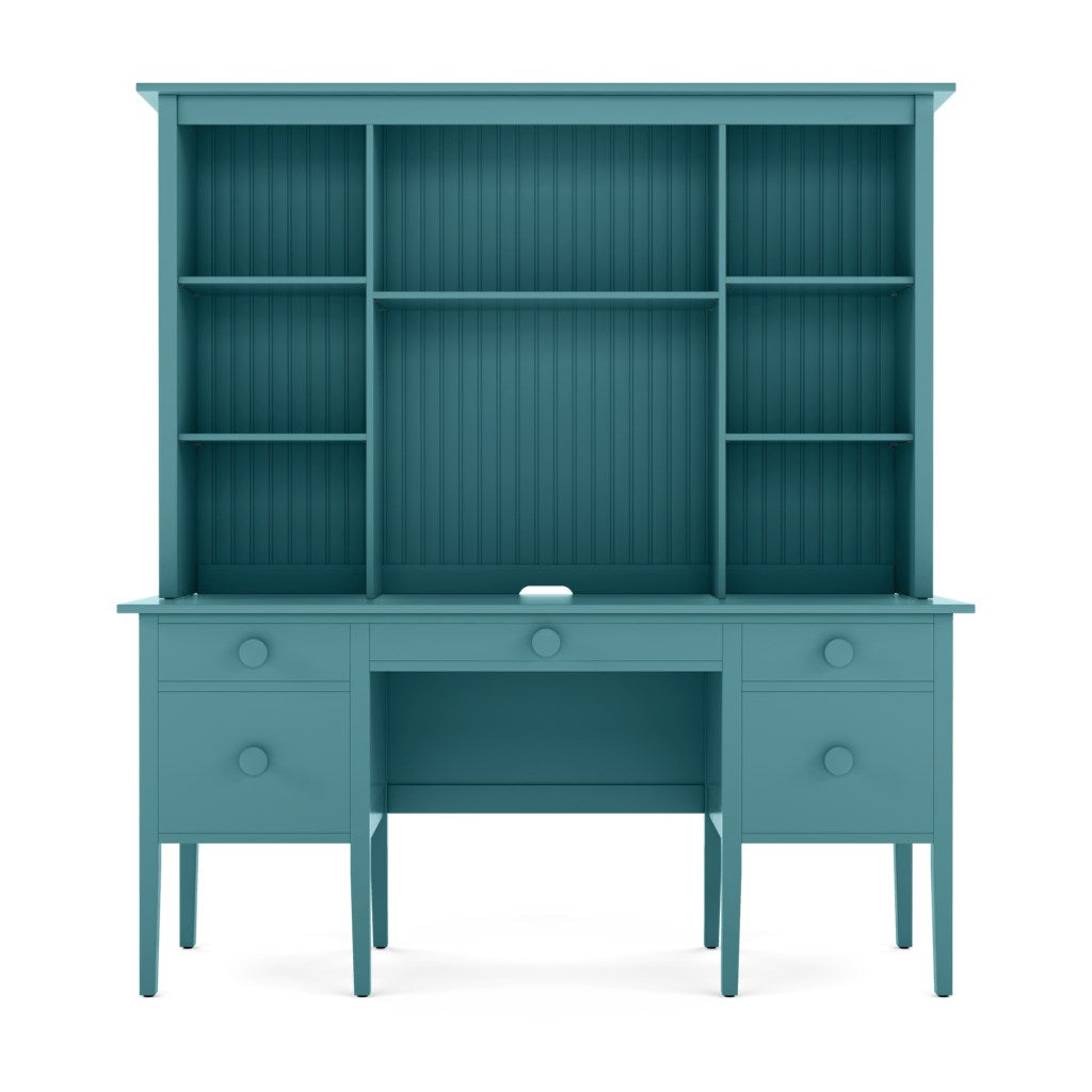 Big Cay Desk with Library Hutch