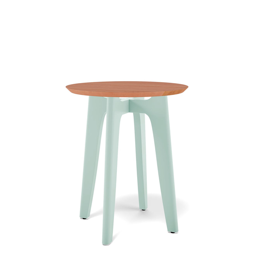 Koby Small Round Table - Cherry Top