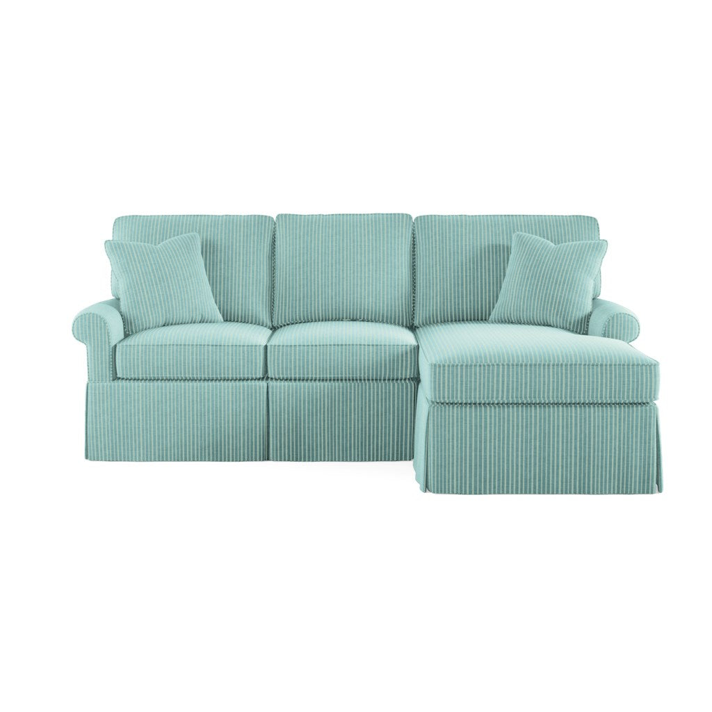 Wilton Skirted Right Arm Facing Petite Chaise Sectional