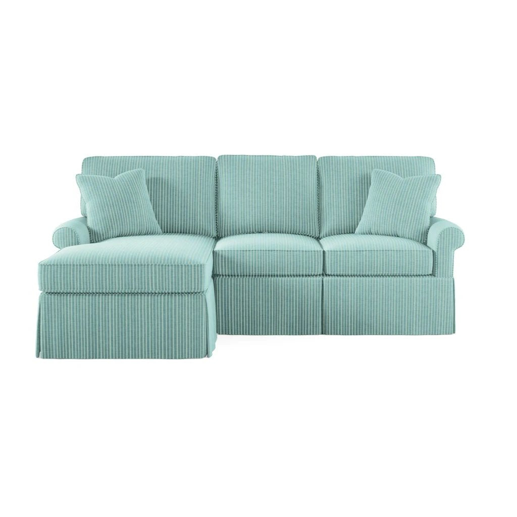 Wilton Skirted Left Arm Facing Petite Chaise Sectional