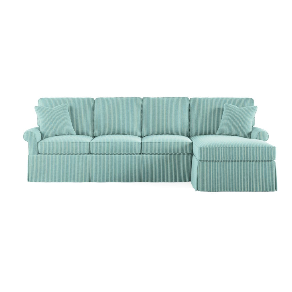Wilton Skirted Right Arm Facing Small Chaise Sectional