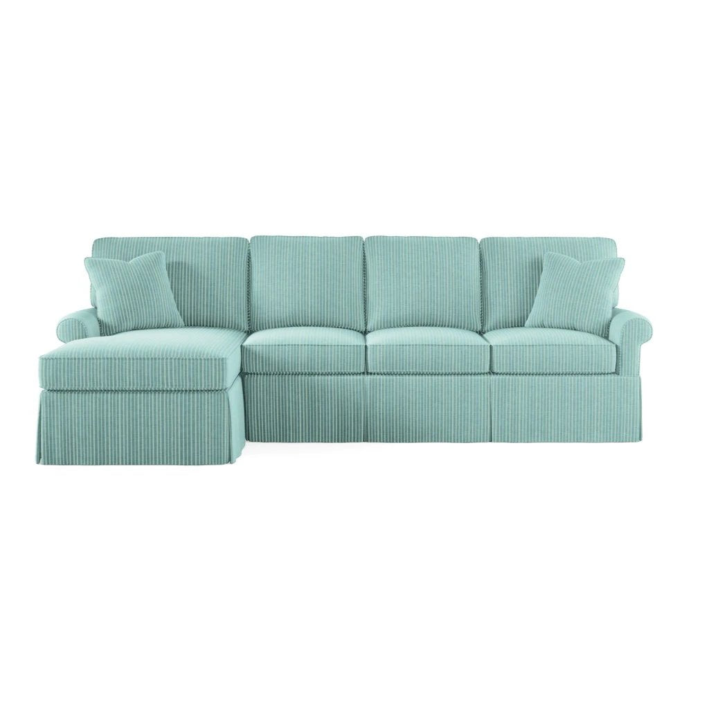 Wilton Skirted Left Arm Facing Small Chaise Sectional