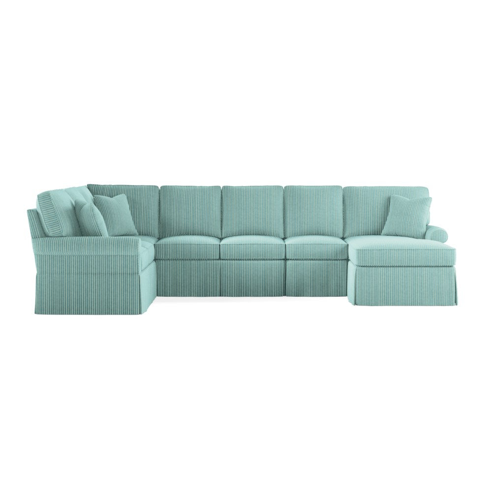 Wilton Skirted Right Arm Facing Large Chaise Sectional