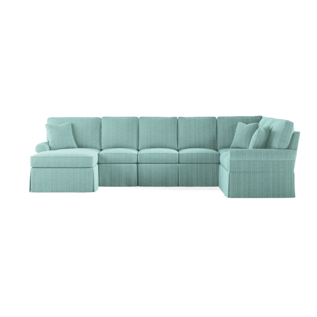 Wilton Skirted Left Arm Facing Large Chaise Sectional