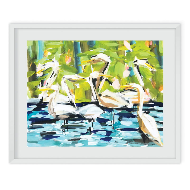 Abstract Egrets