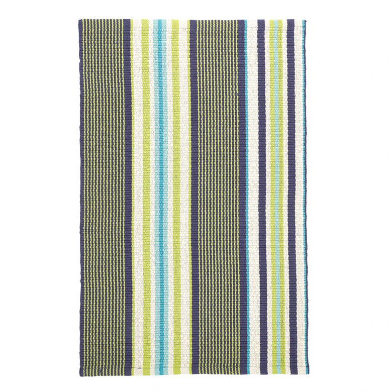 Asher Stripe Woven Cotton Rug
