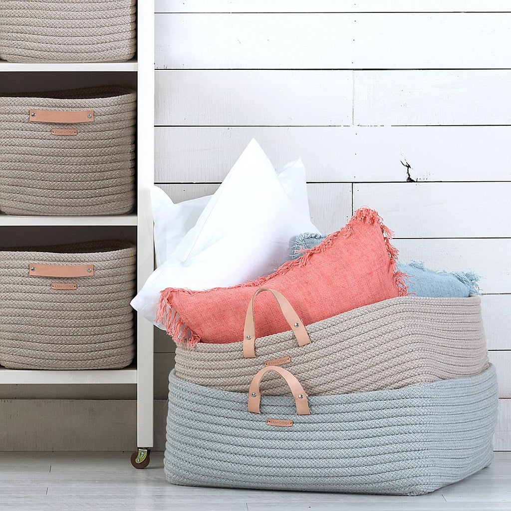 Braided Sunbrella Floor Basket