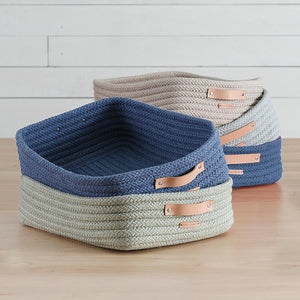 Braided Sunbrella Table Top Basket
