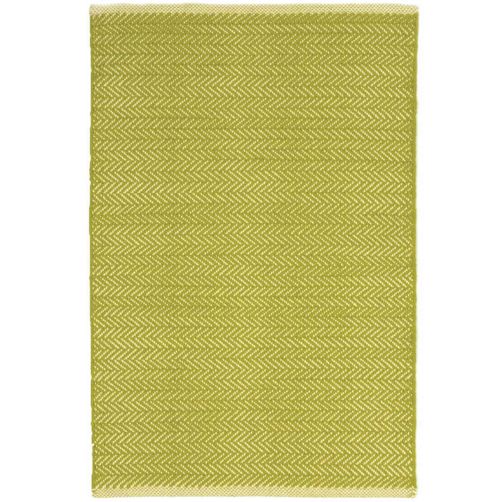 Herringbone Citrus Woven Cotton Rug