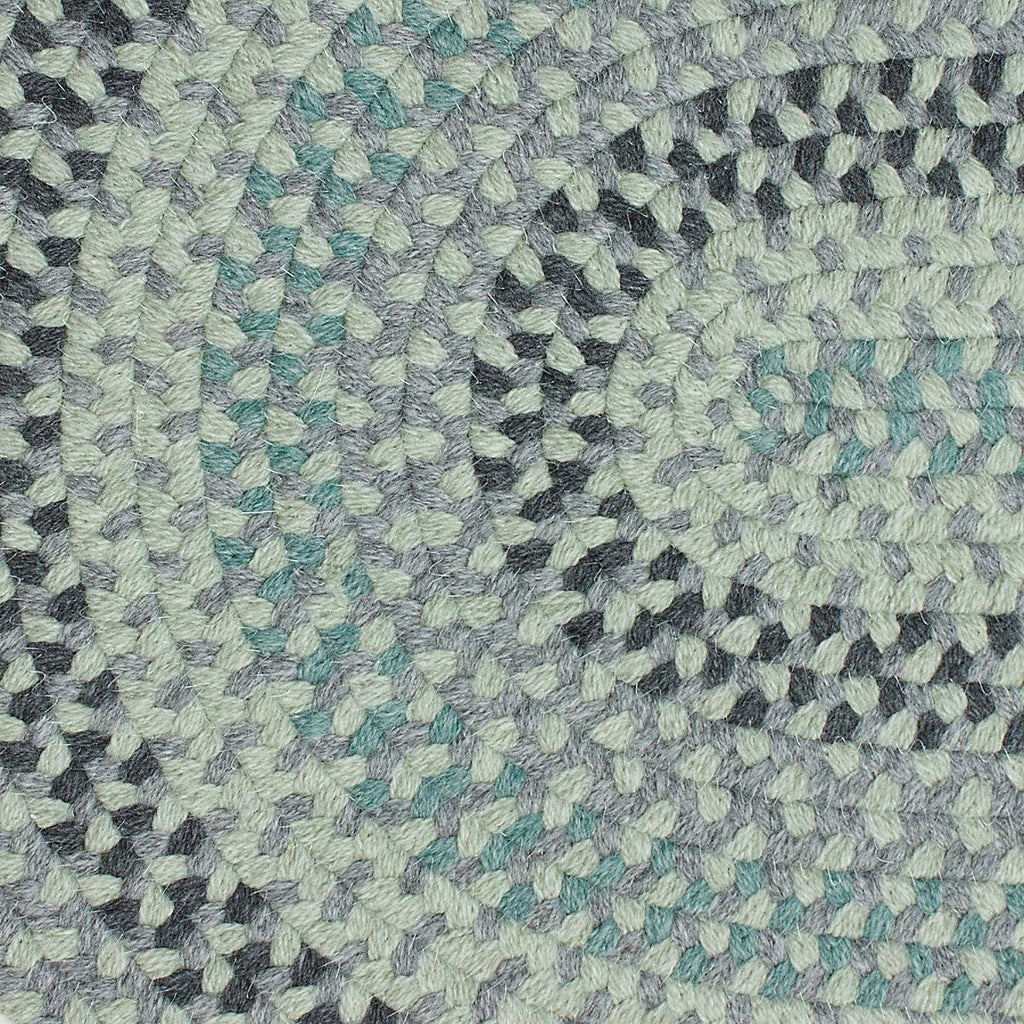 Cottage Braided Wool Rug - Green/Gray