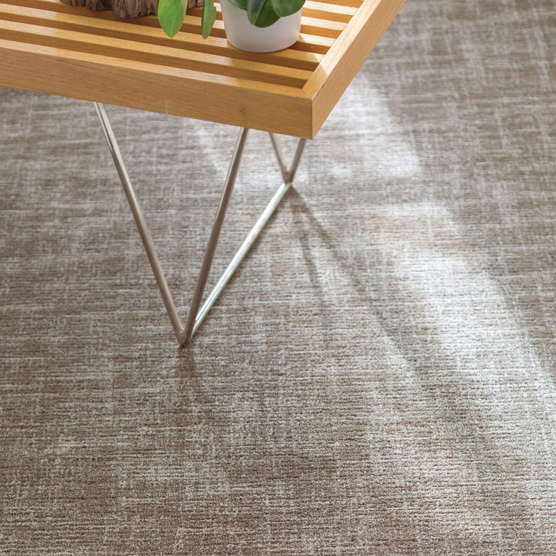 Crosshatch Wool Micro Hooked Rug - Charcoal