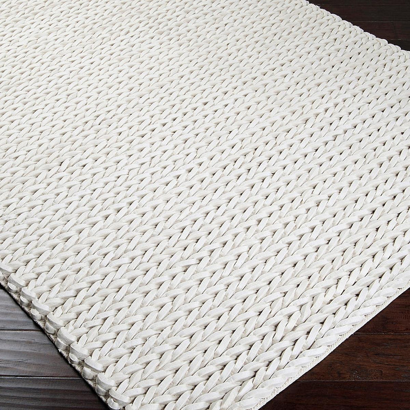 Fishtail Felted Wool Rug - Cream