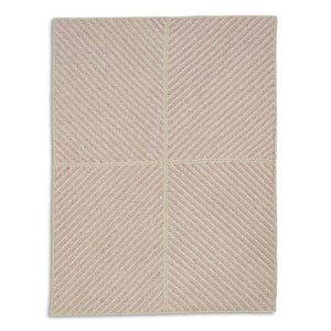 Four Points Diagonal Rug - Fuchsia
