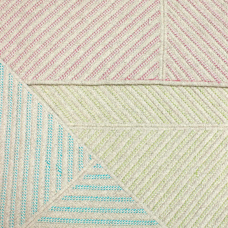 Four Points Diagonal Rug - Hot Lime