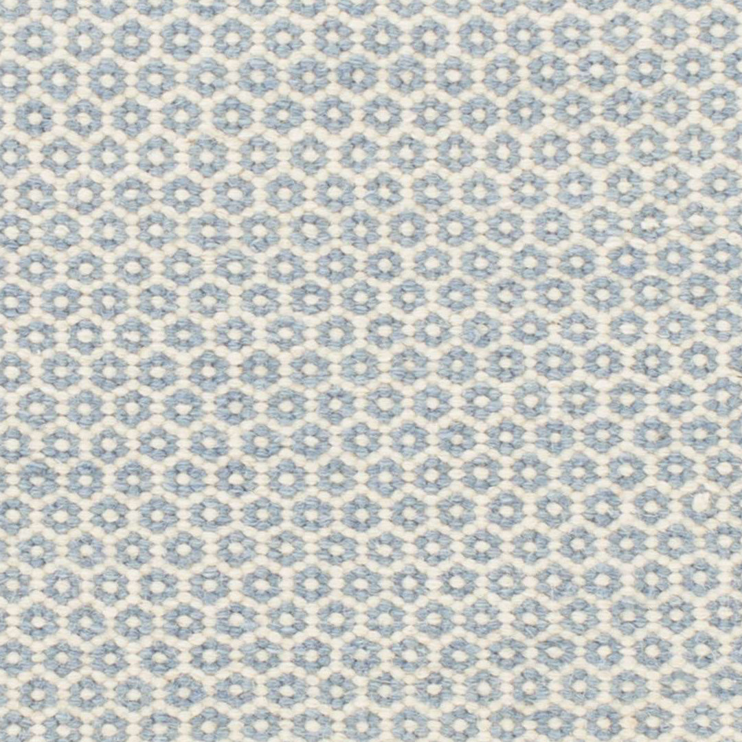 Picture of: Honeycomb French Blue Ivory Wool Woven Rug Maine Cottage