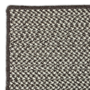 Houndstooth Wool Rug - Charcoal