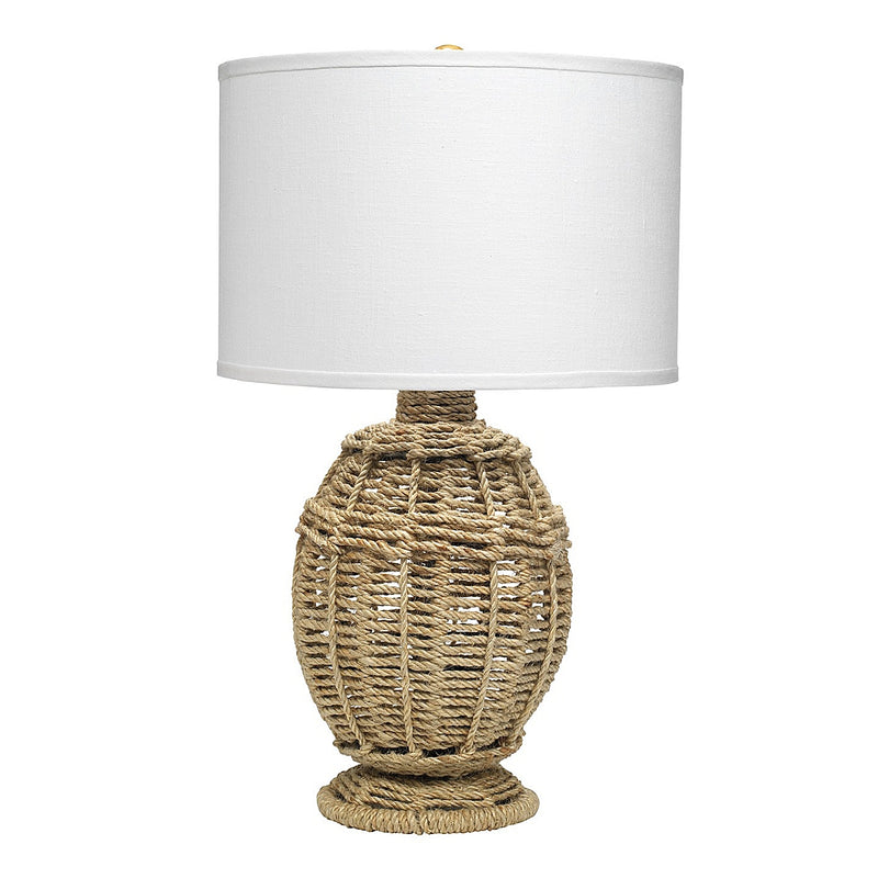 Jute Urn Table Lamp Small