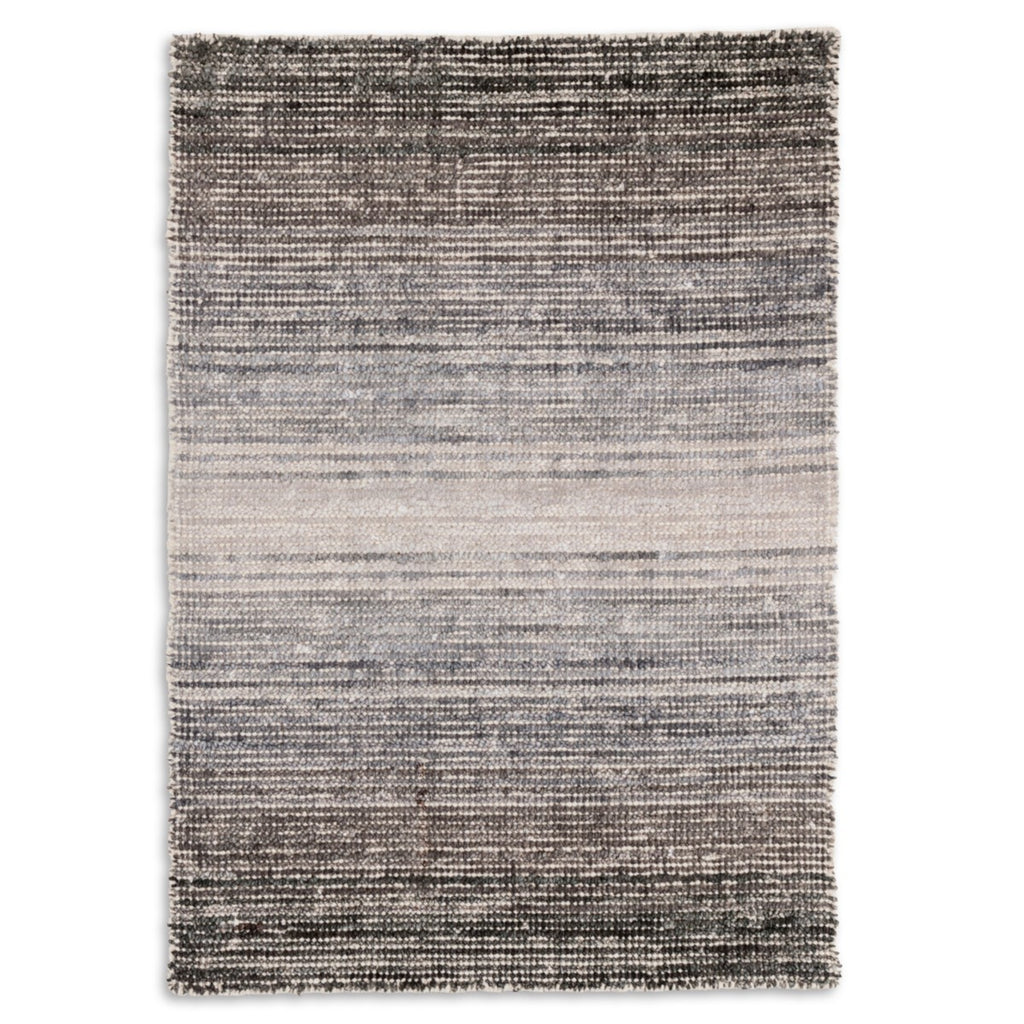 Moon Cotton Viscose Woven Rug - Grey
